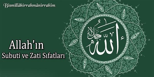 Allahü Teala Sıfatları