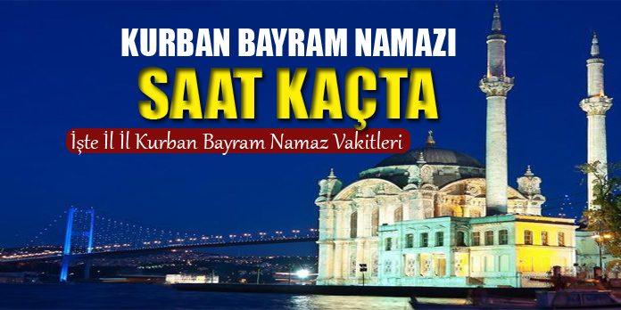 Diyarbakir Kurban Bayrami Namaz Saati 2019 Secdem
