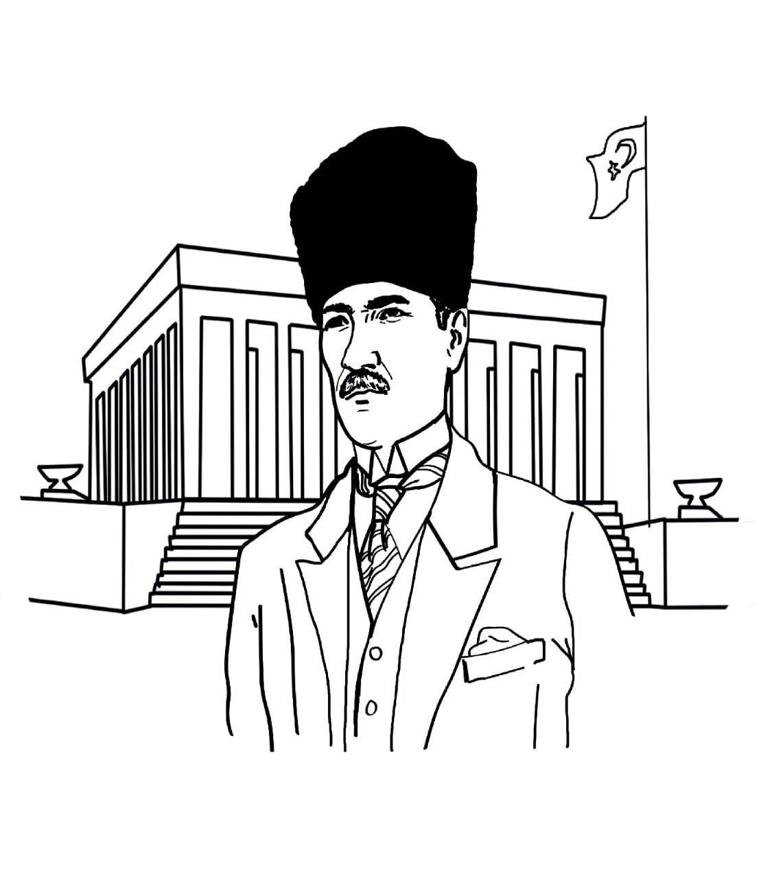 Atatürk 10 Kasım Boyama çizimleri Secdem