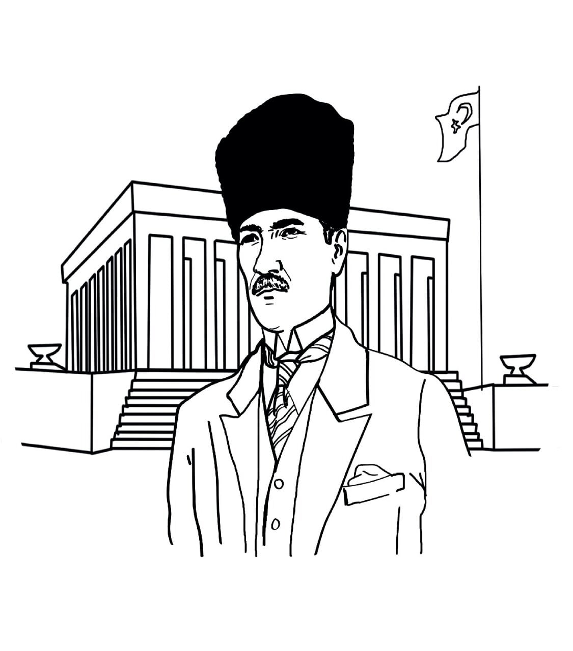 Ataturk 10 Kasim Boyama Cizimleri Secdem