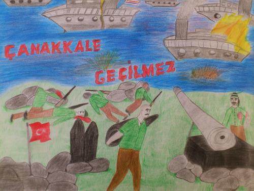 Canakkale Savasi Boyama Resim Cizimleri Secdem