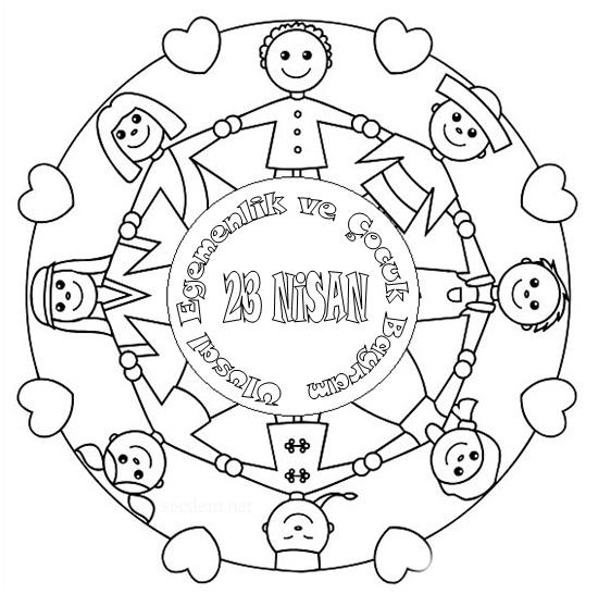 23 Nisan Resmi Cizimi Secdem