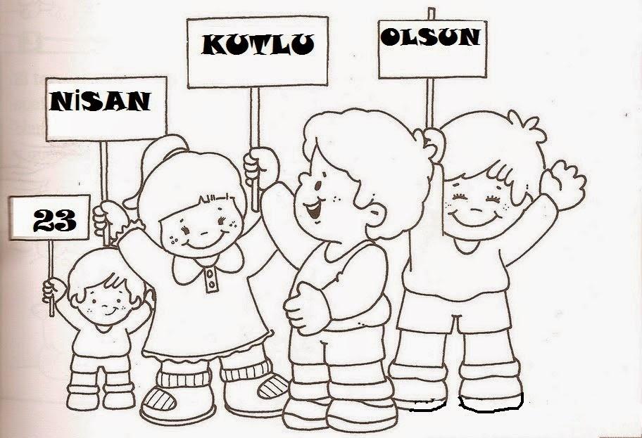 23 Nisan Ulusal Egemenlik Ve çoçuk Bayram Boyama çizimleri Secdem