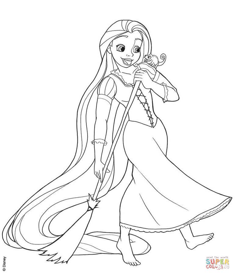 Kolay Prenses Rapunzel çizimi Ve Boyaması Secdem