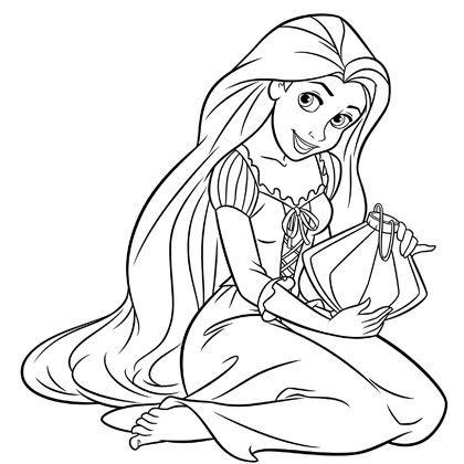Prenses Rapunzel Kolay çizimi Secdem