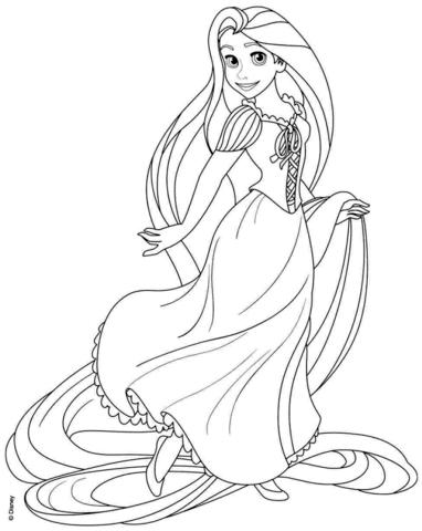 Rapunzel Boyama Sayfaları Secdem